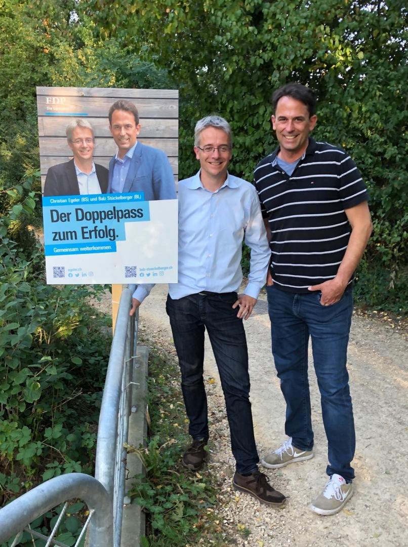 Gemeinsam für eine starke Region: Christian Egeler und Balz Stückelberger